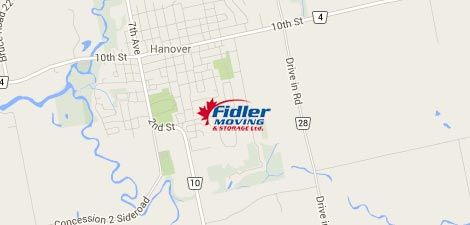 Where to find Fidler Moving - Map